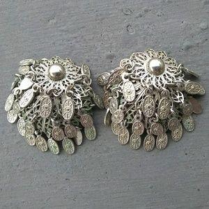 Vintage Silvertone Clip Earrings